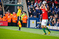 Saturday, 9 March 2013<br /> <br /> Pictured: Ben Davies of Swansea City throws the ball in <br /> <br /> Re: Barclays Premier League West Bromich Albion v Swansea City FC  at the Hawthorns, Birmingham, West Midlands