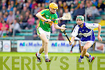 Kevin Orpen Saint Brendans in action against Conor O'Brien Lixnaw in the Senior County Hurling Final at Austin Stack Park Tralee on Sunday.