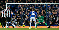 Everton's Moise Kean scores the opening goal<br /> <br /> Photographer Alex Dodd/CameraSport<br /> <br /> The Premier League - Everton v Newcastle United  - Tuesday 21st January 2020 - Goodison Park - Liverpool<br /> <br /> World Copyright © 2020 CameraSport. All rights reserved. 43 Linden Ave. Countesthorpe. Leicester. England. LE8 5PG - Tel: +44 (0) 116 277 4147 - admin@camerasport.com - www.camerasport.com