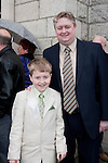 Adam Gardner who made his First Communion at Our Lady of Lourdes Church on Saturday 16th May, pictured with dad David.