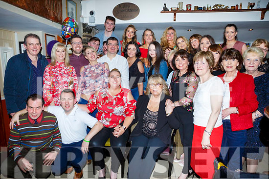 Sheila Ronan enjoying her retirement party in the Brogue Inn on Saturday night with her friends from Garvey's Supervalu Rock Street.