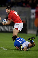 Michele Campagnaro Italy, Jonah Holmes Wales.<br />  <br /> Roma 9-02-2019 Stadio Olimpico<br /> Rugby Six Nations tournament 2019  <br /> Italy - Wales <br /> Foto Antonietta Baldassarre / Insidefoto