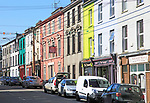 Terrace of historic shops and buildings, Skibbereen, County Cork, Ireland, Irish Republic