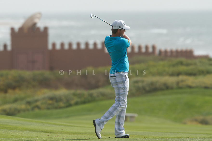 Bernd Wiesberger (AUT) in action during the first round of the 39th Trophee Hassan II played at the Golf du Palais Royal d'Agadir, Agadir, Morocco 22 - 25 March 2012. (Picture Credit / Phil Inglis)