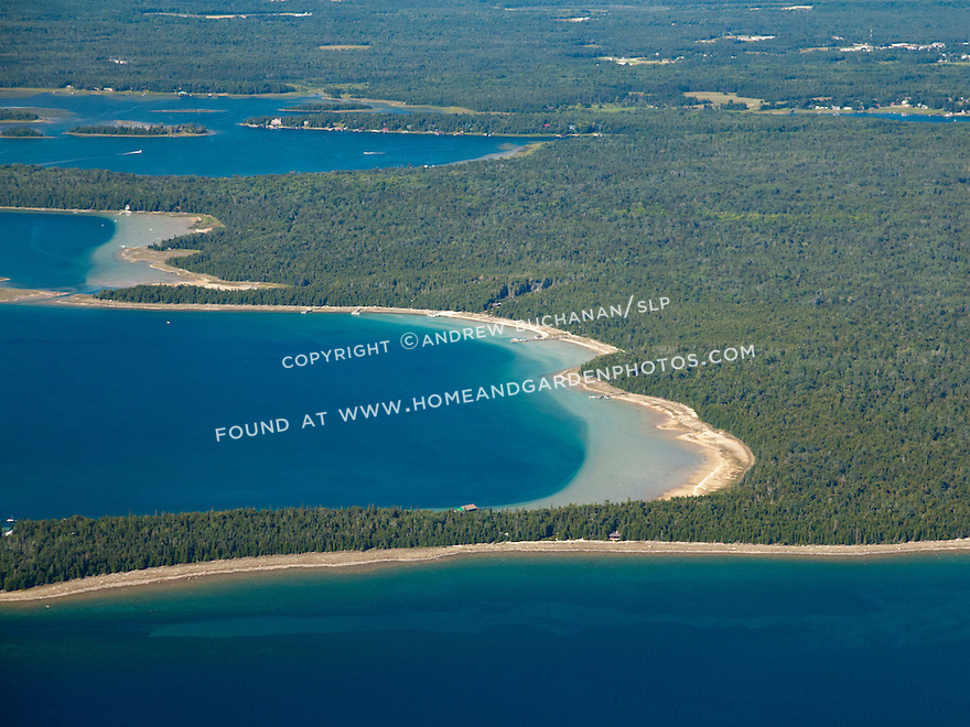 Marquette Island, Marquette Bay, and West Entrance near Hessel, MI