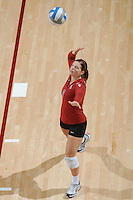 Stanford, CA - OCTOBER 31:  Libero Gabi Ailes #9 of the Stanford Cardinal during Stanford's 25-22, 25-23, 25-18 win against the Washington Huskies on October 31, 2008 at Maples Pavilion in Stanford, California.