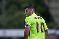 Billy Paynter of Hartlepool United during the Sky Bet League 2 match between Wycombe Wanderers and Hartlepool United at Adams Park, High Wycombe, England on 5 September 2015. Photo by Andy Rowland.