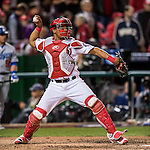 14 October 2016: Washington Nationals catcher Pedro Severino in action during Game 5 of the NLDS against the Los Angeles Dodgers at Nationals Park in Washington, DC. The Dodgers edged out the Nationals 4-3, to take Game 5 of the Series, 3 games to 2, and move on to the National League Championship Series against the Chicago Cubs. Mandatory Credit: Ed Wolfstein Photo *** RAW (NEF) Image File Available ***
