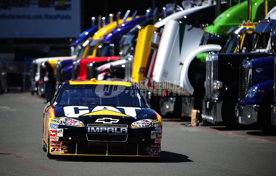Jun. 18, 2010; Sonoma, CA, USA; NASCAR Sprint Cup Series driver Jeff Burton during qualifying for the SaveMart 350 at Infineon Raceway. Mandatory Credit: Mark J. Rebilas-