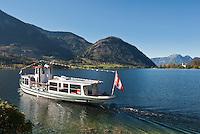 Austria, Styrian Salzkammergut, Goessl at Grundl Lake: sightseeing boat trip | Oesterreich, Steyrisches Salzkammergut, Goessl am Grundlsee: Seenrundfahrt