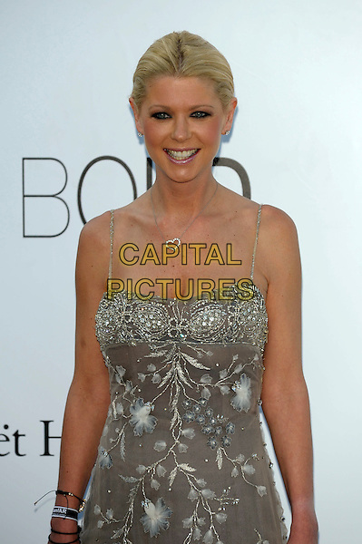 Tara Reid.AmFAR Cinema Against AIDS 2012, Hotel du Cap, Antibes during the 65th  Cannes Film Festival, France..24th May 2012.half length dress silver embroidered  beads beaded    .CAP/PL.©Phil Loftus/Capital Pictures.