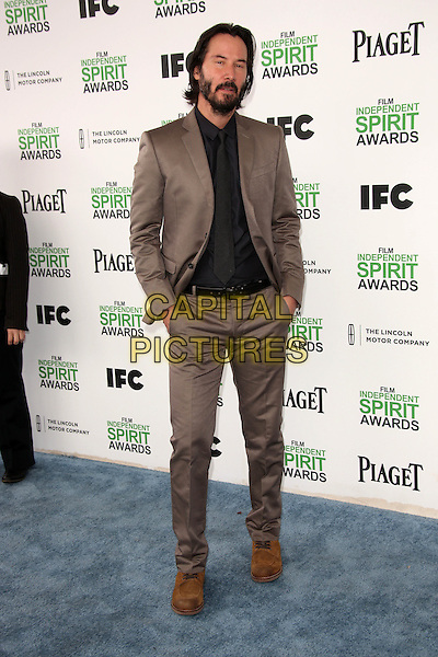 SANTA MONICA, CA - March 01: Keanu Reeves at the 2014 Film Independent Spirit Awards Arrivals, Santa Monica Beach, Santa Monica,  March 01, 2014. Credit: Janice Ogata/MediaPunch<br /> CAP/MPI/JO<br /> &copy;JO/MPI/Capital Pictures