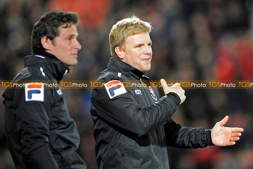 AFC Bournemouth Manager Eddie Howe (r) makes a point to Assistant  Jason Tindall - AFC Bournemouth vs Ipswich Town - Sky Bet Championship Football at the Goldsands Stadium, Bournemouth, Dorset - 29/12/13 - MANDATORY CREDIT: Denis Murphy/TGSPHOTO - Self billing applies where appropriate - 0845 094 6026 - contact@tgsphoto.co.uk - NO UNPAID USE