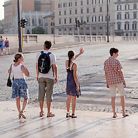 Tourists in Rome.