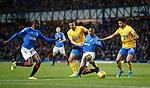 26.12.2019 Rangers v Kilmarnock: Glen Kamara and Joe Aribo with Mohammed El Makrini and Niko Hamalainen