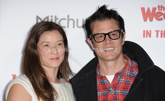 WWW.ACEPIXS.COM<br /> <br /> January 6 2015, LA<br /> <br /> Naomi Nelson and Johnny Knoxville arriving at 'The Wedding Ringer' World Premiere at the TCL Chinese Theatre on January 6, 2015 in Hollywood, California. <br /> <br /> <br /> By Line: Peter West/ACE Pictures<br /> <br /> <br /> ACE Pictures, Inc.<br /> tel: 646 769 0430<br /> Email: info@acepixs.com<br /> www.acepixs.com