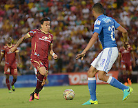 IBAGUE -COLOMBIA, 7-08-2016. Acción de juego entre Millonarios vs Tolima   durante encuentro  por la fecha 7 de la Liga Aguila II 2016 disputado en el estadio Manuel  Murillo Toro./ Action game between  Millonarios  and Tolima  during match for the date 7 of the Aguila League II 2016 played at Mnauel  Murillo Toro stadium. Photo:VizzorImage / Juan Carlos Escobar Tagueno / Contribuidor