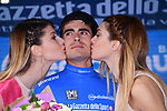 Mikel Landa (ESP) Team Sky retains the Maglia Azzura at the end of Stage 17 of the 100th edition of the Giro d'Italia 2017, running 219km from Tirano to Canazei, Italy. 24th May 2017.<br /> Picture: LaPresse/Gian Mattia D'Alberto | Cyclefile<br /> <br /> <br /> All photos usage must carry mandatory copyright credit (&copy; Cyclefile | LaPresse/Gian Mattia D'Alberto)