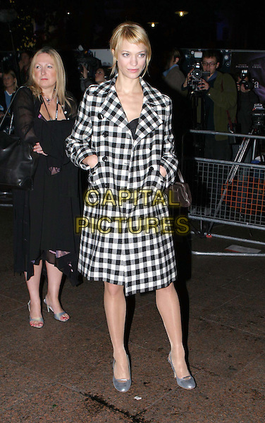 HEIKE MAKATSCH.Sylvia UK premiere, part of the Times BFI London Film festival closing night gala.full length, full-length, silver round toe shoes, black & white checked coat, maatsh.www.capitalpictures.com.sales@capitalpictures.com.© Capital Pictures.