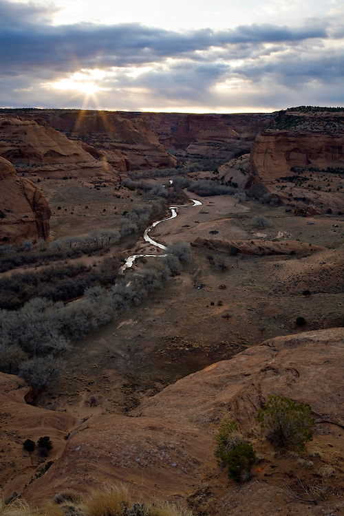 Sunrise over Canyon de Chelly from Junction Overlook