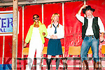 Ballylongford Oyster Festival: Taking part in the LipSync competition at the Ballylonfford Oyster festival oon Friday night last were Sarah Stack as Frddie Mercury, Richard Keane as Brittany Spears & Eric O'Neill as Kenny Rodgers.