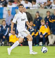 LOS ANGELES, CA – July 16, 2011: Alvaro Arbeloa (17) during the match between LA Galaxy and Real Madrid at the Los Angeles Memorial Coliseum in Los Angeles, California. Final score Real Madrid 4, LA Galaxy 1.