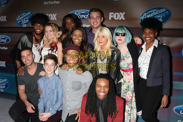 LOS ANGELES, CA - MARCH 11: Quentin Alexander, Maddie Walker, Adanna Duru, Clark Beckham.  Middle Row:  Sarina-Joi Crowe, Jax, Joey Cook, Tyanna Jones, Nick Fradiani, Daniel Seavey, Rayvon Owen, Qaasim Middleton at Fox's 'American Idol XIV' Finalist Party at The District Restaurant on March 11, 2015 in Los Angeles, California. <br /> CAP/MPI/DC/DE<br /> &copy;DE/DC/MPI/Capital Pictures