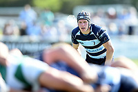 Will Hooley of Bedford Blues watches a scrum. Greene King IPA Championship match, between Ealing Trailfinders and Bedford Blues on April 20, 2019 at the Trailfinders Sports Ground in London, England. Photo by: Patrick Khachfe / Onside Images