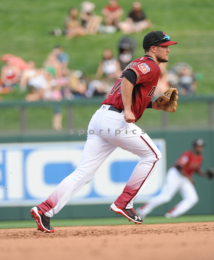 Arizona Diamondbacks Jack Reinheimer (76) during a preseason game against the Arizona Wildcats on March 1, 2016 at Salt River Fields at Talking Stick in Scottsdale, AZ. The Diamondbacks beat the Wildcats 5-12..