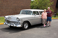 1956 Custom Senior (#39) – 1956 Chevrolet Bel Air Nomad registered to Bob Greve is pictured during 4th State Representative Chevy Show on Thursday, June 30, 2016, in Fort Wayne, Indiana. (Photo by James Brosher)