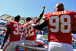 CARSON, CA - SEPTEMBER 24:  Kansas City Chiefs vs the San Diego Chargers NFL Game at the Stub Hub Center in Carson, California on September 24, 2017.
