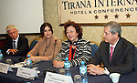 - ALBANIA - 06 October 2014 – Skills for the Future: South Eastern and Turkey –  Press Conference - (left to right) Gerhard Schumann-Hitzler, Director DG Enlargement D  - Regional Cooperation and Assistance, Turkish Cypriot Comnity, Gentjana Sula, Deputy Minister of Social Welfare and Youth of Albania, Madlen Serban, Director ETF and Gazmend Turdiu Deputy Secretary General . PHOTO: EUP-Images - Gent SHKULLAKU / Light Studio Agency (LSA)
