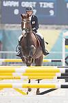 Natsumi Tomonaga (JPN), <br /> AUGUST 31, 2018 - Modern Pentathlon : <br /> Women's Individual Riding <br /> at APM Equestrian Center <br /> during the 2018 Jakarta Palembang Asian Games <br /> in Banten, Indonesia. <br /> (Photo by Naoki Morita/AFLO SPORT)
