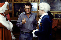 Amadeus (1984) <br /> Behind the scenes photo of Tom Hulce, Milo&scaron; Forman &amp; Zdenek Mahler<br /> *Filmstill - Editorial Use Only*<br /> CAP/KFS<br /> Image supplied by Capital Pictures
