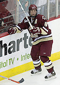 Mike Brennan of Smithtown, New York is one of two alternate captains for the Boston College Eagles.  The junior defenseman played in every game in both his freshman and sophomore seasons. The Boston College Eagles defeated the University of Wisconsin Badgers 3-0 on Friday, October 27, 2006, at the Kohl Center in Madison, Wisconsin in their first meeting since the 2006 Frozen Four Final which Wisconsin won 2-1 to take the national championship.<br />