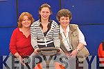 LAWNCUTTER: Testing the lawn cutter at the Kerry Homes and Garden Show at Dan Spring Road, Tralee, on Saturday, l-r: Finola O'Connor, Inga Wolff and Eileen O'Connor (Castleisland)..