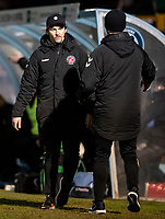 Fleetwood Town's manager Joey Barton leaves the pitch after being sent off<br /> <br /> Photographer Andrew Kearns/CameraSport<br /> <br /> The EFL Sky Bet League One - Wycombe Wanderers v Fleetwood Town - Tuesday 11th February 2020 - Adams Park - Wycombe<br /> <br /> World Copyright © 2020 CameraSport. All rights reserved. 43 Linden Ave. Countesthorpe. Leicester. England. LE8 5PG - Tel: +44 (0) 116 277 4147 - admin@camerasport.com - www.camerasport.com