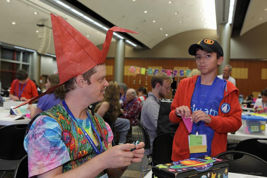 Jeremy Shafer and Sean Bix discuss origami