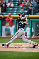 Rocky Gale (17) of the El Paso Chihuahuas bats against the Salt Lake Bees in Pacific Coast League action at Smith's Ballpark on May 1, 2017 in Salt Lake City, Utah. Salt Lake defeated El Paso 9-4.  (Stephen Smith/Four Seam Images)