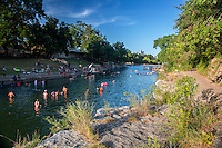 "Barton Springs Pool has been called ""the soul of Austin"" with a history of human activity that dates back at least 10,000 years. It is the main discharge point for water that enters Barton Springs Pool from Edwards Aquifer."