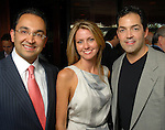 Ali Azizzadeh, Meredith Beaumont and Lucho Rossman at the Rose Ribbon Dinner at Fleming's Prime Steakhouse Thursday June 04,2009.(Dave Rossman/For the Chronicle)