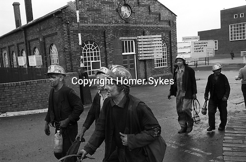 Snowdown Colliery, Snowdown Kent. Miners  1970s UK<br />