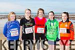 At the North Kerry's KDYS 'fittest Club'  Challenge at Ballyheigue beach  on Saturday were Shannon O'Leary, Listowel,Olivia Twomey, Moyvane, Saha Brent, Tarbert,  Megan Gill, Ballybunion, Brid Horan, Ballyheigue
