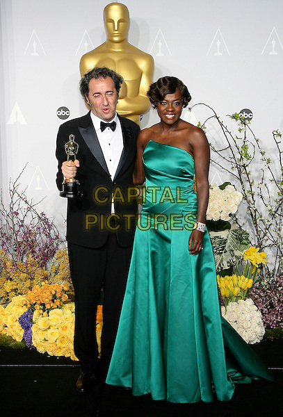 02 March 2014 - Hollywood, California - Paolo Sorrentino, Viola Davis. 86th Annual Academy Awards held at the Dolby Theatre at Hollywood &amp; Highland Center. <br /> CAP/ADM<br /> &copy;AdMedia/Capital Pictures