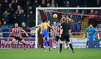 Mansfield Town's Jacob Mellis scores his side's equalising goal to make the score 1-1<br /> <br /> Photographer Chris Vaughan/CameraSport<br /> <br /> The EFL Sky Bet League Two - Lincoln City v Mansfield Town - Saturday 24th November 2018 - Sincil Bank - Lincoln<br /> <br /> World Copyright &copy; 2018 CameraSport. All rights reserved. 43 Linden Ave. Countesthorpe. Leicester. England. LE8 5PG - Tel: +44 (0) 116 277 4147 - admin@camerasport.com - www.camerasport.com