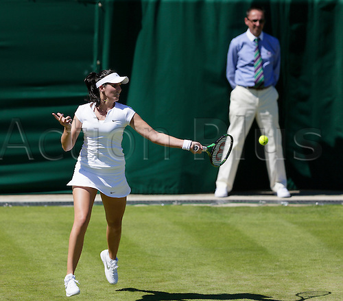 30.06.2015.  Wimbledon, England. The Wimbledon Tennis Championships. Ladies' Singles first round match between Evgeniya Rodina (RUS) & Laura Robson (GBR).  Laura Robson in action