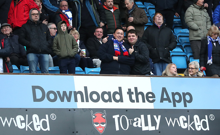 Blackburn Rovers' Fans at the start of todays match<br /> <br /> Photographer Rachel Holborn/CameraSport<br /> <br /> The EFL Sky Bet Championship - Blackburn Rovers v Sheffield Wednesday - Saturday 1st December 2018 - Ewood Park - Blackburn<br /> <br /> World Copyright &copy; 2018 CameraSport. All rights reserved. 43 Linden Ave. Countesthorpe. Leicester. England. LE8 5PG - Tel: +44 (0) 116 277 4147 - admin@camerasport.com - www.camerasport.com