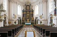 Oesterreich, Salzburger Land, Salzburg-Neustadt: Innenansicht der barocken, roemisch-katholischen Sebastianskirche in der Linzergasse | Austria, Salzburger Land, Salzburg-New Town: baroque, roman-catholic church St. Sebastian - interior