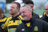 Yellows coach Kelvin Tantrum after winning the 2019 Manawatu premier club rugby Hankins Shield final match between Varsity and Feilding Yellows at CET Arena in Palmerston North, New Zealand on Saturday, 13 July 2019. Photo: Dave Lintott / lintottphoto.co.nz
