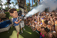 LAS VEGAS, NV - October 7: DJ Pauly D and DJ Pauly D Look A-like Costume pictured as DJ Pauly D performs at REHAB pool party at Hard Rock Hotel & Casino on October 7, 2012 in Las Vegas, Nevada. Kabik/Starlite/MediaPunch Inc